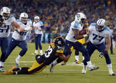 Tennessee Titans lost at the Pittsburgh Steelers 40-17 in a Thursday night game on November 17th, 2014.