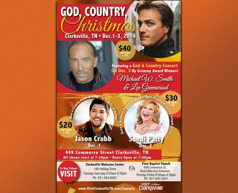 Visit Clarksville Christmas Concert Series December 1st-3rd