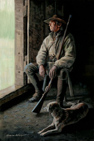 Waiting for the Let-up - by David Wright. (www.davidwrightart.com)