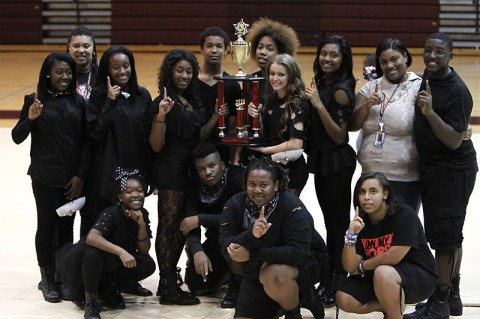 West Creek High School 1st place step. (Lois Jones​)