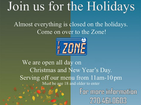 2014 Holidays at The Zone