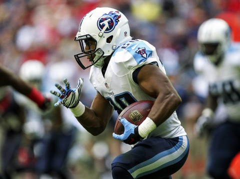 Tennessee Titans running back Bishop Sankey (20) rushes during the first quarter against the Houston Texans at NRG Stadium. (Troy Taormina - USA TODAY Sports)