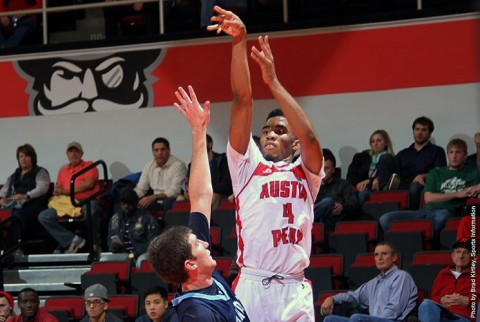 Austin Peay freshman guard Josh Robinson connected on seven three pointers against Oakland City. (APSU Sports Information)
