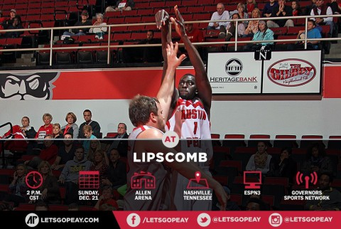 Austin Peay Governors Basketball at Lipscomb Sunday. (APSU Sports Information)