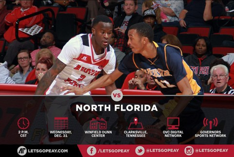 Austin Peay Men's Basketball faces North Florida at home, Wednesday. (APSU Sports Information)