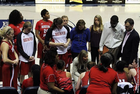 Austin Peay Women's Basketball loses 63-54 at Central Arkansas. (APSU Sports Information)