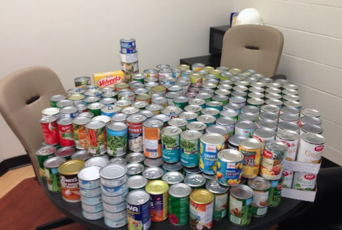 APSU Department of Public Safety collected 1,627 cans of food with the Food for Fines program.