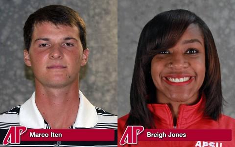 APSU's Marco Iten and Breigh Jones
