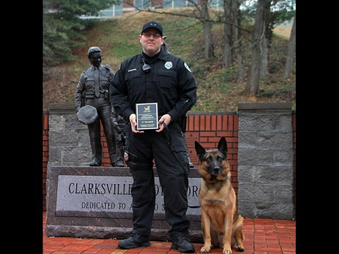 Clarksville Police K-9 Officer Stanton and Aires