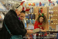 Leah Colclasure and Gabrielle shop for her family