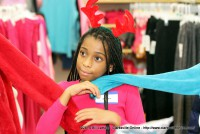 One of the young shoppers
