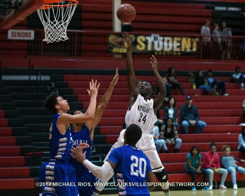 Kenwood Boy's Basketball drops game at Rossview High School Christmas Classic to Waverly.