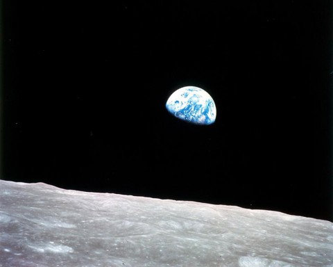 The famous 'Earthrise' photo from Apollo 8, the first manned mission to the moon. The crew entered lunar orbit on Christmas Eve, Dec. 24, 1968. That evening, the astronauts held a live broadcast, showing pictures of the Earth and moon as seen from their spacecraft. (NASA)