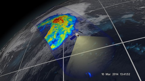 An extra-tropical cyclone seen off the coast of Japan, March 10, 2014, by the GPM Microwave Imager. (NASA/JAXA)