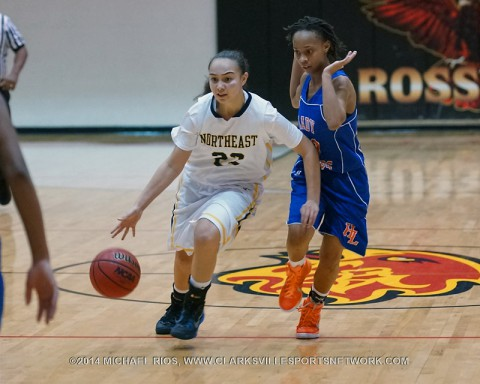 Northeast Girl's Basketball loses to Hunters Lane at Rossview Christmas Classic.