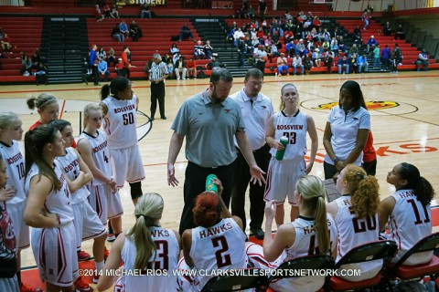 Rossview Girl's Basketball loses in overtime to Christ Presbyterian Academy at Rossview Christmas Classic.