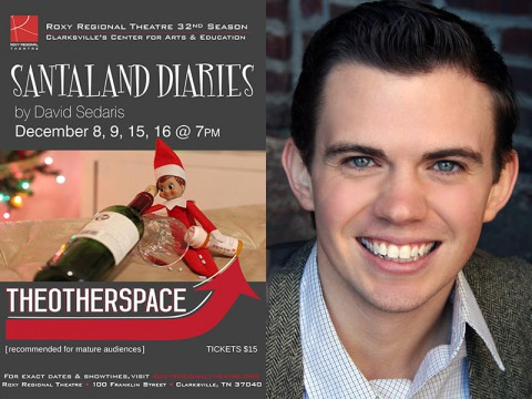 Ryan Bowie stars in The Santaland Diaries at the Roxy Regional Theatre.