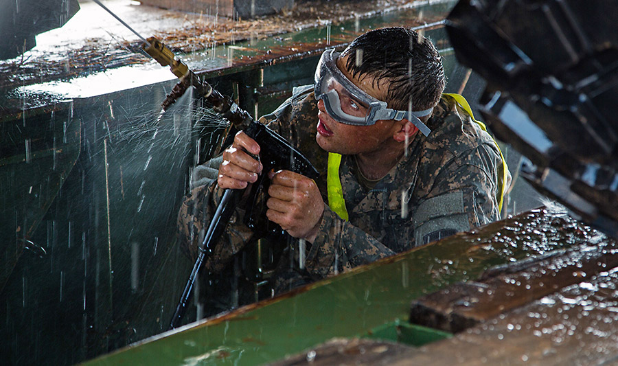 Spc Michael Saucier A Truck Driver With The 101st Sustainment Brigade Task Force Lifeliner