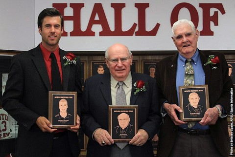 (L to R) Grant Leaver, Ed Bunio, Bob Bradley were inducted into Austin Peay State University's Athletics Hall of Fame Saturday morning. (APSU Sports Information)