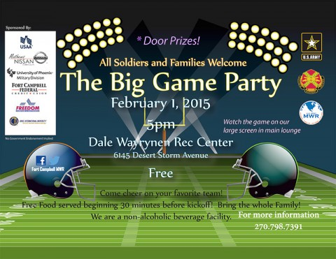 2015 Fort Campbell DW Recrecation Big Game Party