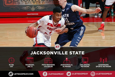 Austin Peay Men's Basketball travels to Jacksonville State Thursday. (APSU Sports Information)