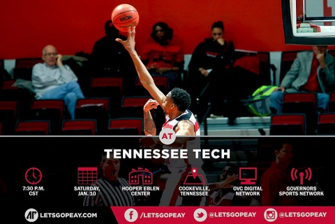 Austin Peay Men's Basketball seek OVC win at Tennessee Tech. (APSU Sports Information)