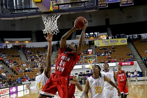 Austin Peay forward Ed Dyson was one of three Govs in double figures in the loss at Tennessee Tech. (APSU Sports Information)