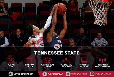 Austin Peay Men's Basketball return home to Dunn Center to take on Tennessee State.