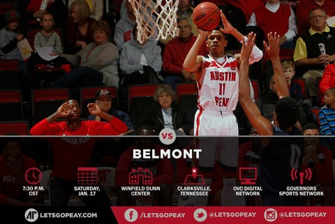 Austin Peay Men's Basketball plays Belmont at Dunn Center Saturday. (APSU Sports Information)