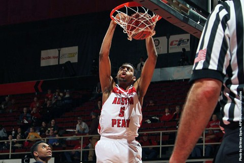 Austin Peay junior center Chris Horton tallied his ninth double-double this season in the loss to Belmont. (APSU Sports Information)