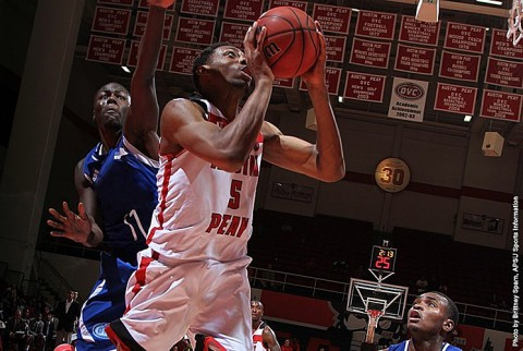 Austin Peay junior center Chris Horton recorded a double-double in a loss to SIUE, Thursday night. (APSU Sports Information)