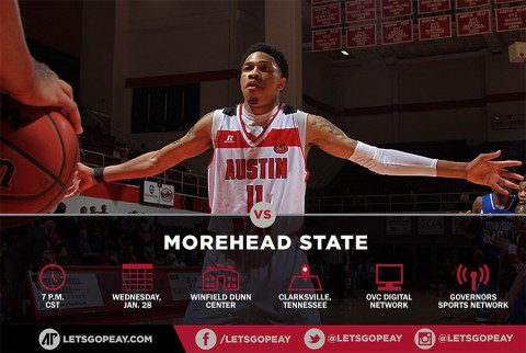 Austin Peay Men's Basketball takes on Morhead State at the Dunn Center, Wednesday. (APSU Sports Information)