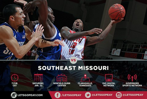 Austin Peay Men's Basketball plays SEMO at home Saturday. (APSU Sports Information)