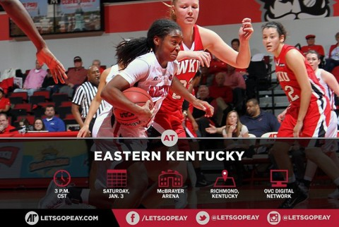 APSU Women's Basketball travel to Eastern Kentucky Saturday. (APSU Sports Information)