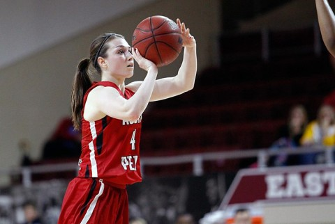Austin Peay senior guard Kristen Stainback had a season best 26 points including 6 of 9 three pointers against Eastern Kentucky. (APSU Sports Information)