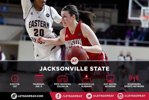 Austin Peay Lady Govs Basketball travel to Jacksonville to take on Gamecocks Thursday. (APSU Sports Information)