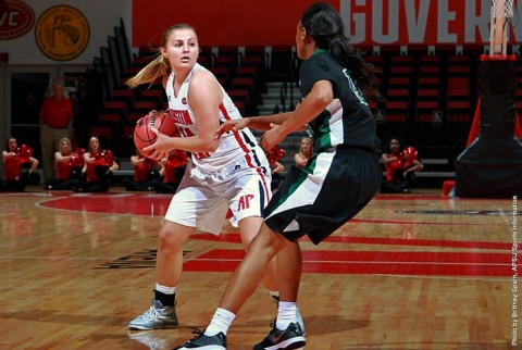 Austin Peay Women's Basketball loses to Tennessee Tech 75-71. (APSU Sports Information)