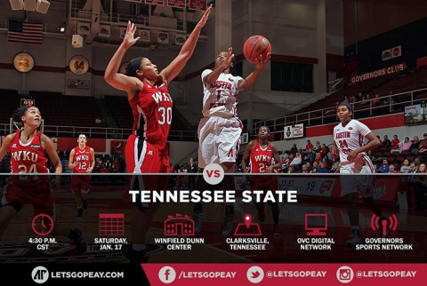Austin Peay Women's Basketball plays Tennessee State at home Saturday. (APSU Sports Information)