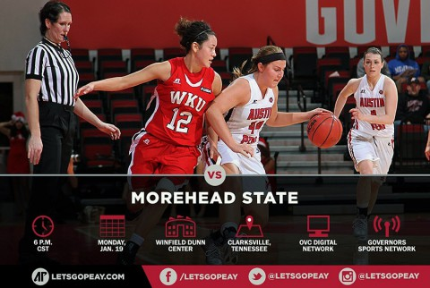Austin Peay Women's Basketball take on Morehead State at the Dunn Center, Monday. (APSU Sports Information)