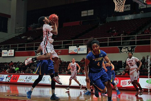 Austin Peay junior guard Tiasha Gray scores 31 in loss to Morehead State Monday night. (APSU Sports Information)