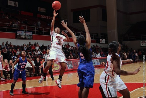 Austin Peay junior guard Tiasha Gray nets 32 against Eastern Illinois Saturday. (APSU Sports Information)
