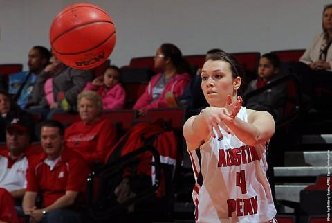 Austin Peay senior guard Kristen Stainback had 15 points versus SIUE. (APSU Sports Information)