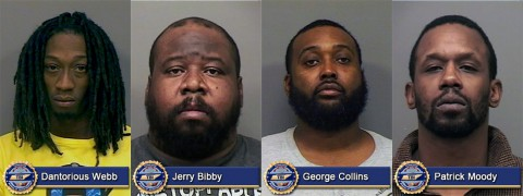 Four more people arrested in conjuntion with TBI Joint Investigation into Cocaine Operation (L-R): Dantorious Webb, Jerry Bibby, George Collins and Patrick Moody.