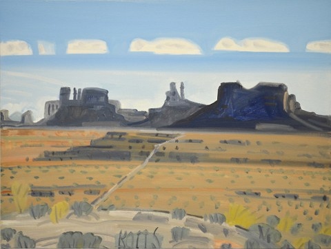 """Gregory Botts: Painting Along the Road."" - Monument Valley Approach"