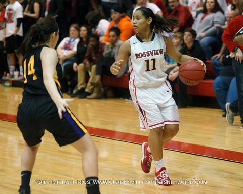 West Creek Girl's Basketball gets 38-34 win over Rossview Tuesday night.