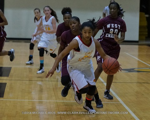 Rossview Middle School Girl's Basketball beat West Creek Thursday night.