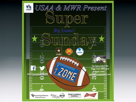 Superbowl Football Party at The Zone