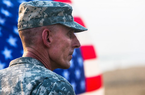 Maj. Gen. Gary Volesky, commander of Joint Forces Command – United Assistance at Barclay Training Center, Monrovia, Liberia, Jan. 1st, 2015. (Spc. Rashene Mincy, 55th Signal Company (Combat Camera))