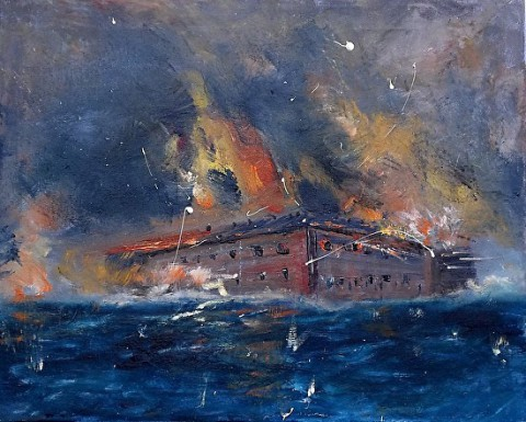 """""""The Battle of Fort Sumter"""" by Peach McComb."""