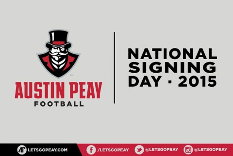 Austin Peay State University Governors Football 2015 National Signing Day. (APSU Sports Information)